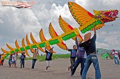 3D Dragon Kite.National Kite Festival 2010 was held at Parangkusumo Beach…