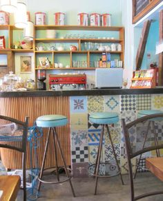 and idea to coffee, genial vintage look