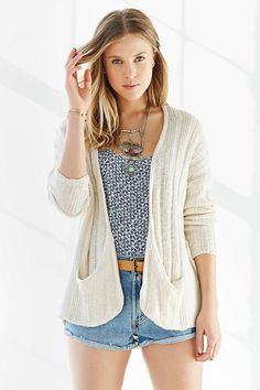 Ecote Open-Front Slouchy Cardigan - Urban Outfitters