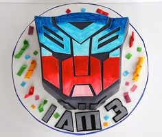 Transformer cake Ian would totally dig this cake