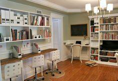 Homeschool Room, Billy Bookcase Buit-ins, Homeschool Library,