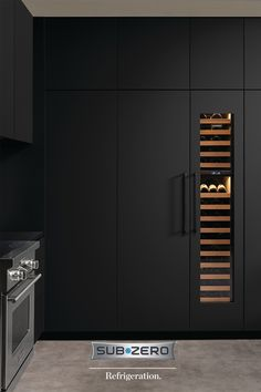 With countless custom finishes, hardware, fits, and configurations, Sub-Zero refrigerators can be seamlessly integrated into the surrounding kitchen cabinetry. Houzz Interior Design, Home Design Decor, Bathroom Interior Design, House Design, Kitchen Room Design, Modern Kitchen Design, Dining Table In Kitchen, New Kitchen, Kitchen Cabinetry