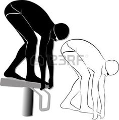 Sports Clipart Image of Black White
