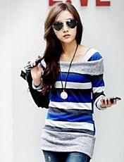Women's Street Style Striped Sweater Top