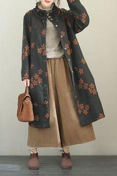 Vintage Cotton Linen Thicken Long Women Winter Coat Source by lhavas clothes hijab Hijab Fashion Casual, Muslim Fashion, Modest Fashion, Korean Fashion, Fashion Dresses, Fashion Coat, Fashion Fashion, Winter Fashion, Fashion Tips