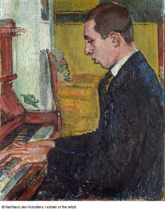 Cuno Amiet Solothurn 1868–1961 Oschwand/Bern | Portrait of the Musician Hans Münch Portrait du musicien Hans Münch