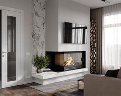 СТУДИЯ Les photos de А + Б - 800 albums Living Room Decor Fireplace, Home Fireplace, Fireplace Remodel, Modern Fireplace, Home Living Room, Home Room Design, Home Interior Design, Living Room Designs, House Design