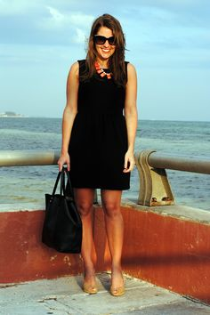 Crew Dress // J.Crew Necklace {also love this one!} // Michael Kors Wedges // Monserat de Lucca Tote {no longer… Sequins And Stripes, Michael Kors Wedges, J Crew Necklace, Spring Looks, Spring Summer, J Crew Dress, Lbd, Her Style, Spring Fashion