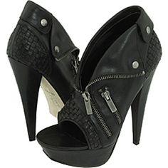 ohhhhh biker girl boots! Beautiful, with open toes for summer, adj. upper zipper.