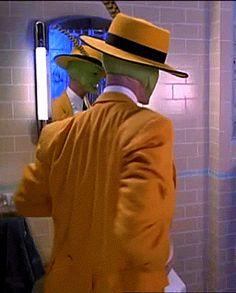 "Jim Carrey ""The Mask"" Chuck Russell Movie Gifs, Film Movie, La Mascara Jim Carrey, The Mask Gif, Jim Carrey The Mask, Son Of The Mask, Funny Faces Images, O Maskara, Jim Carey"