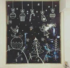 20 krétafilces karácsonyi rajz, hogy az ablakok is ünnepeljenek! – Boldog K. - 20 krétafilces karácsonyi rajz, hogy az ablakok is ünnepeljenek! – Boldog Karácsony – a Kata - Winter Christmas, Christmas Time, Christmas Crafts, Christmas Ornaments, Christmas Deserts, Christmas Window Decorations, New Years Decorations, Holiday Decor, Christmas Windows