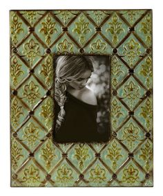 Another great find on #zulily! Green Pressed Tin Frame #zulilyfinds