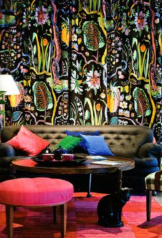 josef frank - I'm loving those curtains