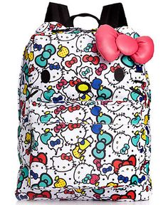 Hello Kitty Backpack, Allover Kitty Print - Backpacks & Laptop Bags - Handbags & Accessories - Macy's