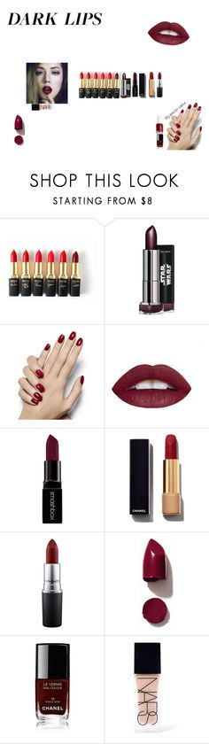 """""""I love dark lips"""" by pernille-sophie ❤ liked on Polyvore featuring beauty, L'Oréal Paris, Smashbox, Chanel, MAC Cosmetics, NARS Cosmetics, Essie, contest, pretty and makeup"""