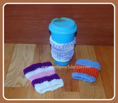 Easy Knit Coffee Cozy Pattern