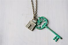 """Who holds the key to your heart? Add this Lock and Key necklace to any outfit for instant glamour! - 18"""" Chain - Lobster Clasp - Lead and Nickel Free"""