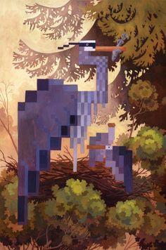 Great Blue Herons - Laura Bifano