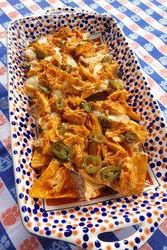 Buffalo Chicken Nachos {Football Friday} | Plain Chicken