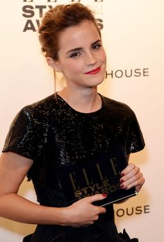 Attends the Elle Style Awards 2014 at One Embankment on February 18, 2014 in London