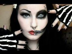 Half skeleton half pin up  http://m.youtube.com/watch?v=KSSS2kc5nWc&desktop_uri=%2Fwatch%3Fv%3DKSSS2kc5nWc