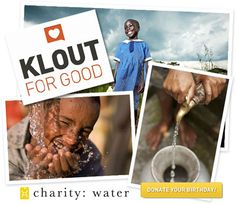 Online influence measuring service Klout has launched Klout for Good, encouraging users to use their influence to help various partner nonprofits including (of course!) charity:water.