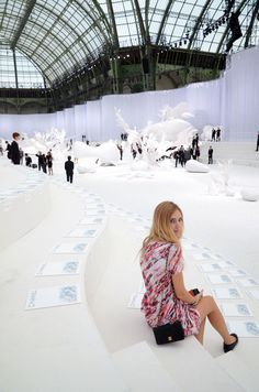 Set for the Chanel fashion show was ridic