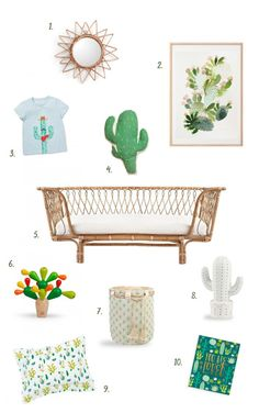 Cactus inspired kids room, by ChicDeco