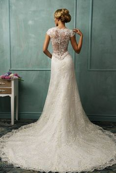 """lace wedding dresses  (=^.^=) Thanks, Pinterest Pinners, for stopping by, viewing, re-pinning, & following my boards.  Have a beautiful day! ^..^ and """"Feel free to share on Pinterest #fashion  #weddinggowns www.weddingreceptionidea.org"""