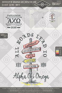 University of Arkansas AXO Initiation 2016 #BUnlimited #BUonYOU #CustomGreekApparel #GreekTShirts #Fraternity #Sorority #GreekLife #TShirts #Tanks #TShirtIdeas #AlphaChiOmega #AlphaChi #AXO #Initiation #BigLittle #Sisterhood #SpringBreak #BidDay #Theme #RoadSign