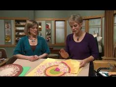 Nancy Zieman and Kate Bashynski use unconventional fabric choices together with the Easy Dresden Tool and Dresden Trace 'n Create Quilt Templates. Quilting Tips, Quilting Tutorials, Quilting Projects, Sewing Tutorials, Dresden Plate Patterns, Dresden Plate Quilts, Patchwork Tutorial, Applique Tutorial, Missouri Quilt Tutorials