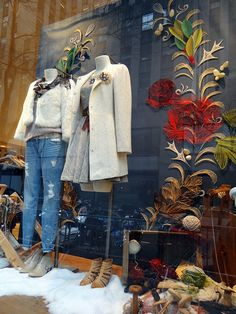Pin by nancy greenfield on display ideas in 2019 store window displays, sho Retail Windows, Store Windows, Anthropologie Display, Store Window Displays, Retail Displays, Porches, Visual Display, Shop Front Design, Window Design