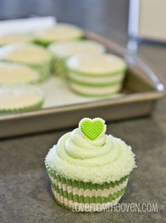 #Margarita #Cupcake Recipe - Starts With A Cake Mix - Easy & Delicious!  At @Christi | Love From The Oven