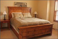 good chunky wooden bed 91 about remodel home remodel design with chunky wooden bed. awesome home interior paint ideas victorian exquisite design of brown wall color and dark luxury wooden bed frame… Simple Wood Bed Frame, Wooden Bed Frames, Wood Beds, Wooden Headboards, Wooden King Size Bed, King Size Bed Frame, Cama King, Diy Pallet Bed, Bed Frame And Headboard