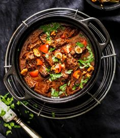 Pork Recipes, Paella, Bon Appetit, Stew, Crockpot, Slow Cooker, Curry, Food And Drink, Dinner