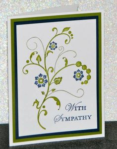 With Sympathy by Broom - Cards and Paper Crafts at Splitcoaststampers