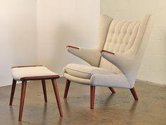 1950s Hans Wegner Papa Bear Chair and Footstool by openairmodern, $18750.00