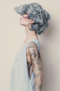 hair colour- blue grey