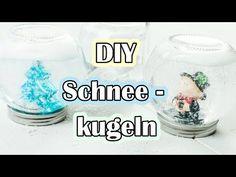 DIY Schneekugeln ohne Glycerin basteln - günstige Geschenkidee