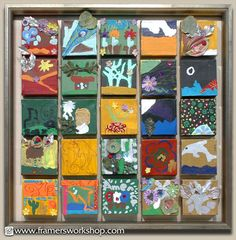 school auction projects the best | ... > Examples of Our Work > Miniature Canvas School Auction Display