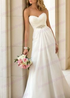 2014 -100% Manual Wedding Dresses Sweetheart Beaded Lace Up Ruffle Chiffon Sleeveless A-line Court Train Wedding Dresses