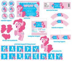 Pinkie Pie Chevron My Little Pony Birthday by digitalparties, $20.00