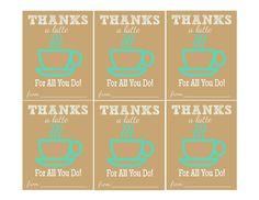 Thanks A Latte {Free Printable}