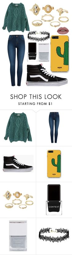 """""""Cozy winter day"""" by todddinozzo on Polyvore featuring Essentiel, Pieces, Vans, WithChic, Charlotte Russe, Context and Butter London"""