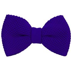 40 Colori - Royal Blue Solid Silk Knitted Bow Tie (130 BRL) ❤ liked on Polyvore featuring men's fashion, men's accessories, men's neckwear and bow ties