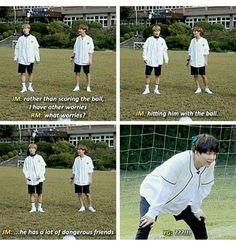 Hahaha please don't hit yoongi with the ball!