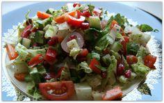 My version of Lebanese fattoush - bread salad.