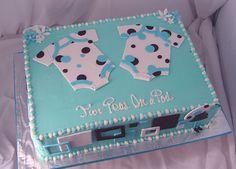Baby Shower Cakes | Baby Shower Twins Cake - Onesies Cake