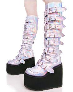 b4ec20e58f0 Hologram Trinity Boots Quirky Shoes