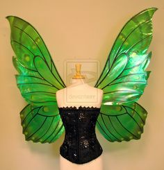 how to make butterfly wings   Delia's giant green butterfly fairy wings front by *FaeryAzarelle on ...